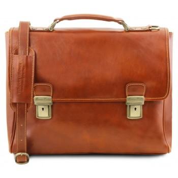 Кожаный портфель Tuscany Leather Trieste TL141662 honey