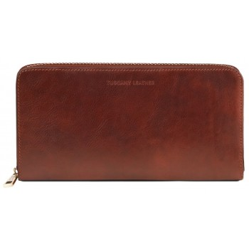 Кожаный клатч Tuscany Leather TL141663 brown