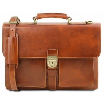 Кожаный портфель Tuscany Leather Assisi TL141825 honey