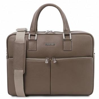 Кожаная сумка для ноутбука Tuscany Leather Treviso TL141986 taupe
