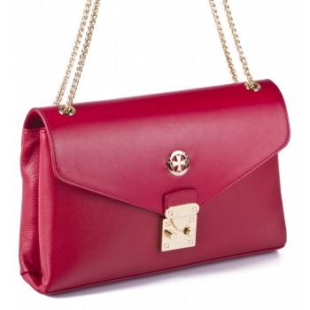 Женский кожаный клатч Narvin 9932 N.Logo Red