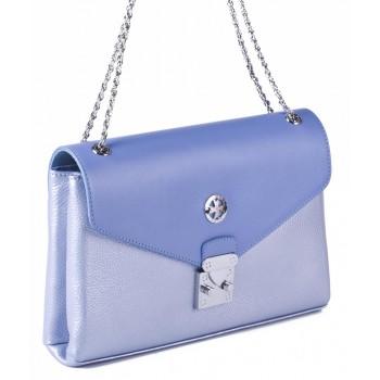 Женский кожаный клатч Narvin 9932 N.Polo Light Blue