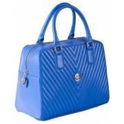 Женская кожаная сумка Narvin 9968 N.Armani Bright Blue