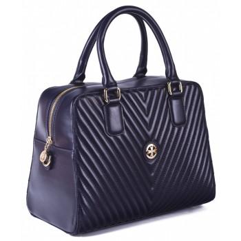 Женская кожаная сумка Narvin 9968 N.Armani D.Blue