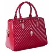 Женская кожаная сумка Narvin 9968 N.Armani Red