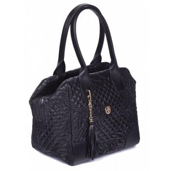Женская кожаная сумка Narvin 9985 N.Gabrielle Black