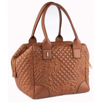 Женская кожаная сумка Narvin 9985 N.Gabrielle Camel