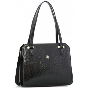 Женская кожаная сумка Narvin 9995 N.Anaconda Black