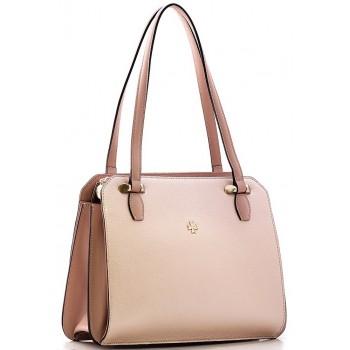 Женская кожаная сумка Narvin 9995 N.Polo Powder