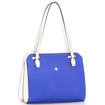 Женская кожаная сумка Narvin 9995 N.Polo Ultra Blue