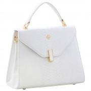 Женская кожаная сумка Narvin 9997 N.Anaconda White