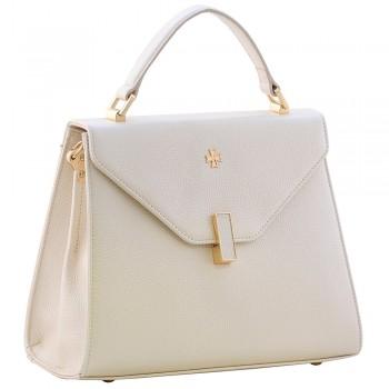 Женская кожаная сумка Narvin 9997 N.Polo Beige
