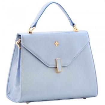 Женская кожаная сумка Narvin 9997 N.Polo Bright Blue
