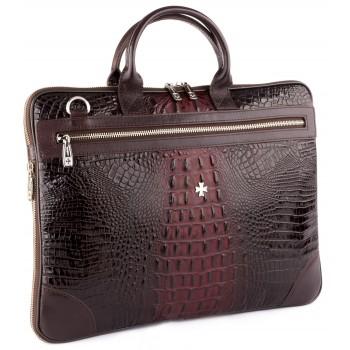 Деловая сумка NARVIN (Vasheron) 9742-N.Bambino/Burgundy