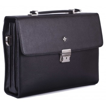 Портфель мужской NARVIN (Vasheron) 9744 N.Prada Black/Polo Black