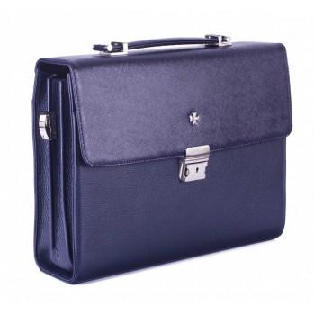 Портфель мужской NARVIN (Vasheron) 9744 N.Prada D.Blue/Polo D.Blue