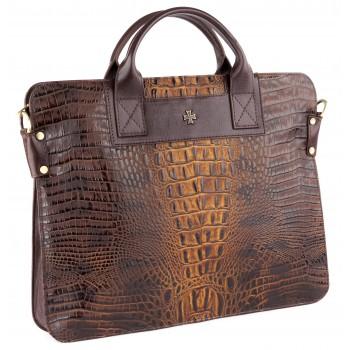 Деловая сумка NARVIN (Vasheron) 9748-N.Bambino Olive