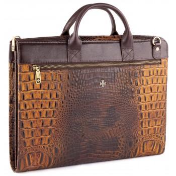 Деловая сумка NARVIN (Vasheron) 9749-N.Bambino Olive