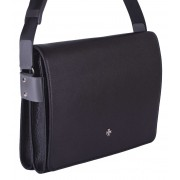 Деловая сумка через плечо NARVIN (Vasheron) 9750-N.Polo/Black