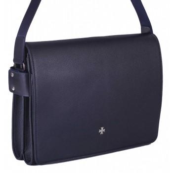 Деловая сумка через плечо NARVIN (Vasheron) 9750-N.Polo/D.Blue
