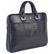Деловая сумка NARVIN (Vasheron) 9751-N.Aligro Indigo