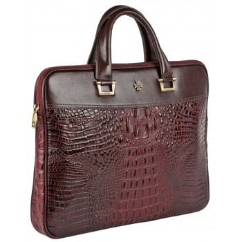 Деловая сумка NARVIN (Vasheron) 9751-N.Bambino Burgundy