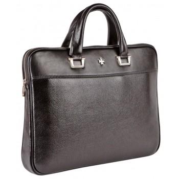 Деловая сумка NARVIN (Vasheron) 9751-N.Polo Black/Prada Black