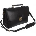Кожаный портфель Visconti Russel 18074 black