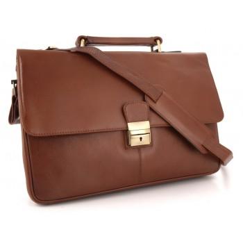 Кожаный портфель Visconti Russel 18074 brown