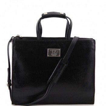 Кожаный портфель Tuscany Leather Palermo TL10060 black