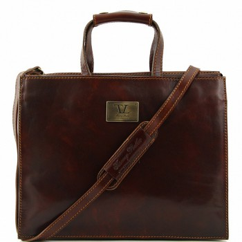 Кожаный портфель Tuscany Leather Palermo TL10060 brown