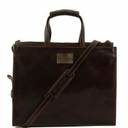 Кожаный портфель Tuscany Leather Palermo TL10060 dark brown