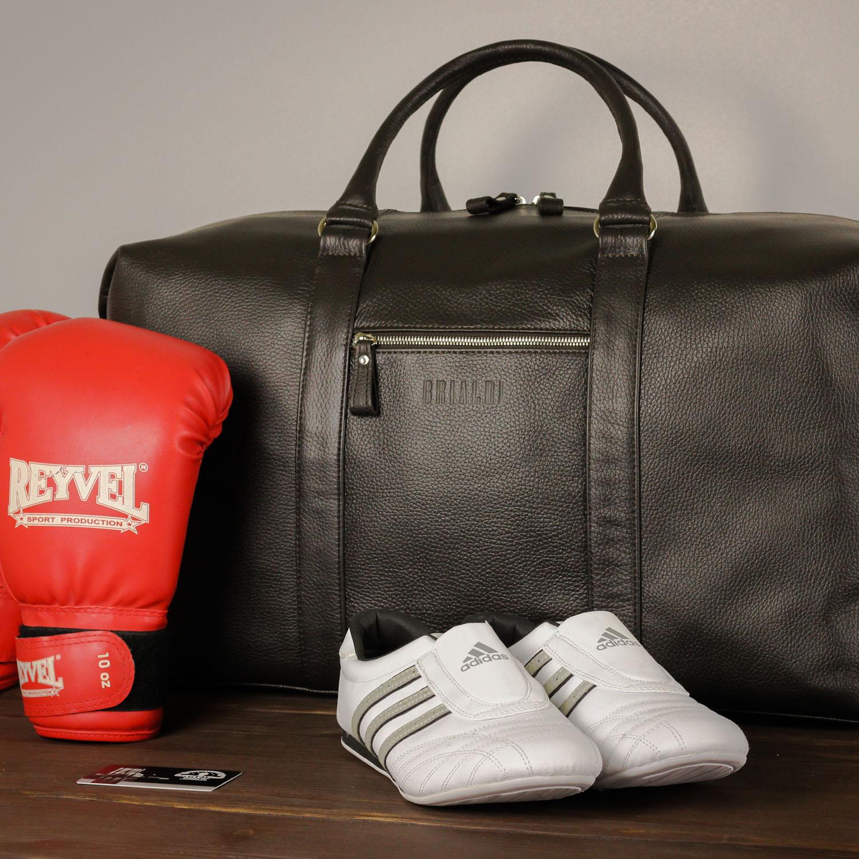 Кожаная сумка для спорта